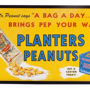 Planters Peanuts Trolley Car Sign