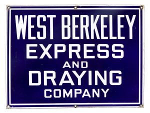 West Berkeley Express Porcelain Sign