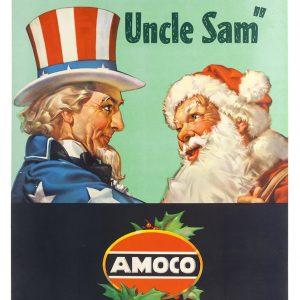 Patriotic Amoco Christmas Poster