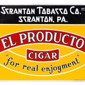 El Producto Cigars Porcelain Sign
