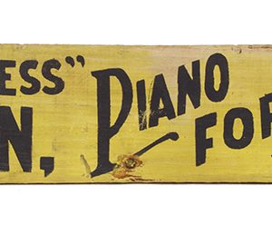 Matchless Piano Wooden Sign