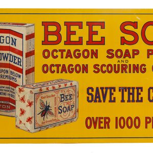 Bee Soap Toctagon Sign
