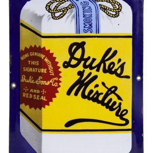 Dukes Mixture Tobacco Porcelain Sign