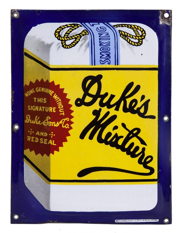 Dukes Mixture Tobacco Porcelain Sign