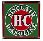 Sinclair H-C Gasoline Porcelain Sign