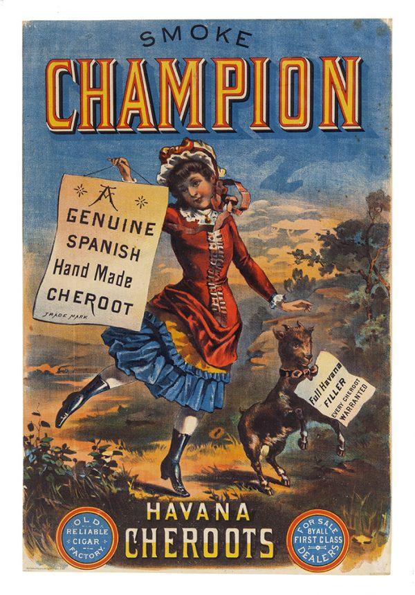 Champion Cheroot Cigars Sign