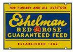 Eshelman Red Rose Feed Porcelain Sign