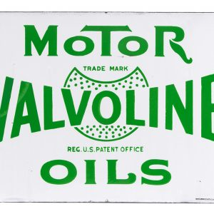 Valvoline Motor Oil Porcelain Sign