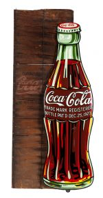 Coca-Cola Bottle Sign w/ Crate