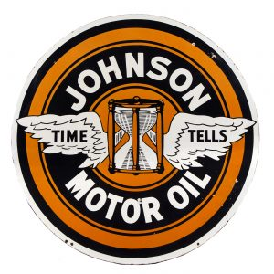 Johnson Motor Oil Porcelain Sign
