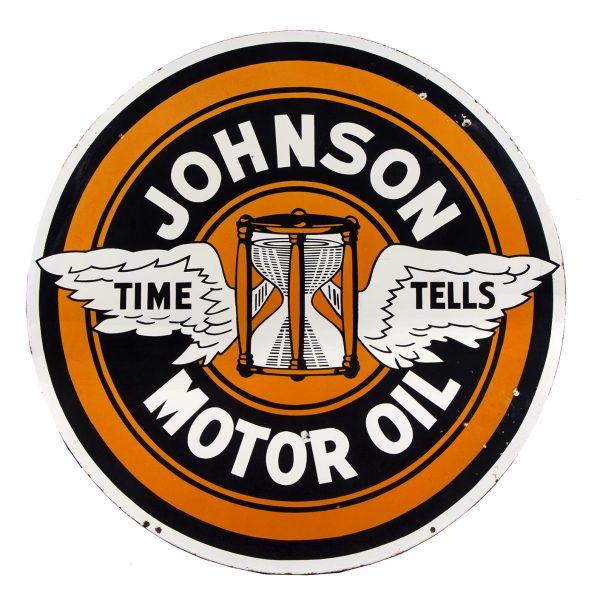Johnson Motor Oil Porcelain Sign