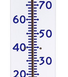 Socony Porcelain Thermometer