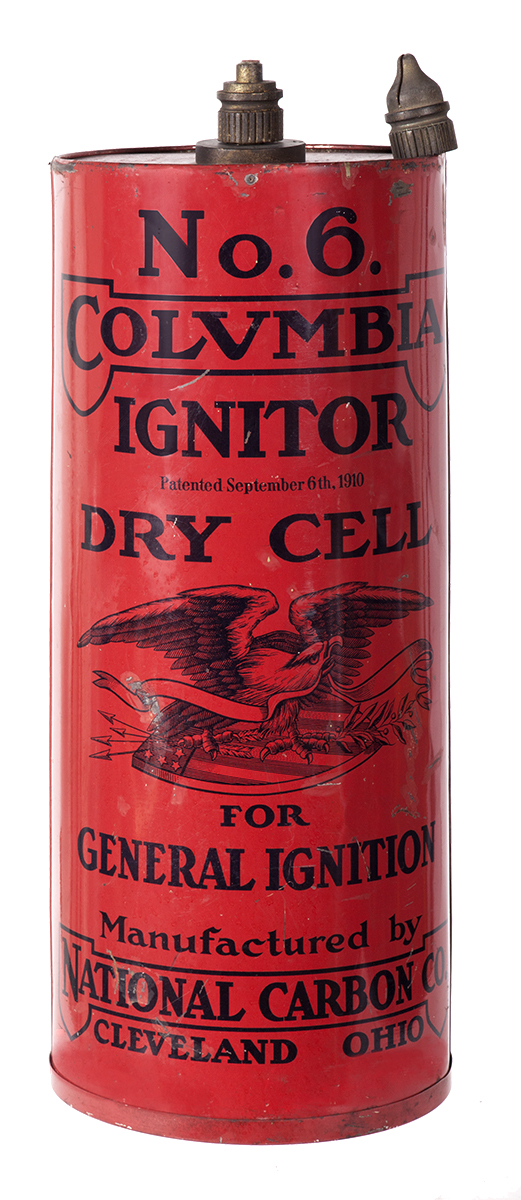 Columbia Dry Cell Battery Trade Sign
