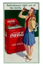 Coke Skater Girl Sign