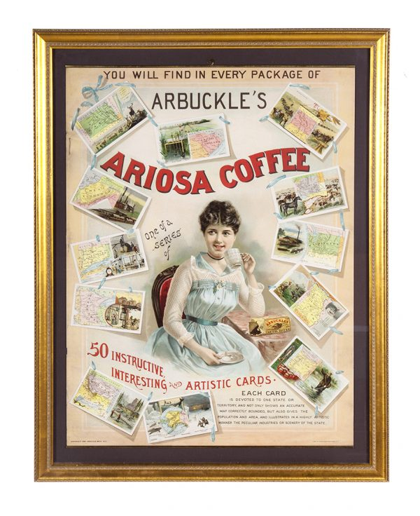 Arbuckle Coffee Insert Cards Promo Sign