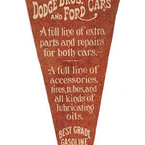 Early Dodge Auto Dealer Pennant