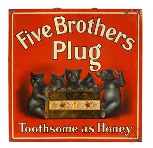 Five Brothers Tobacco Sign