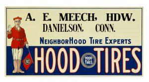 Hood Tires Sign