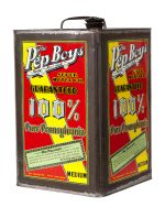 Pep Boys 5 Gallon Motor Oil Can