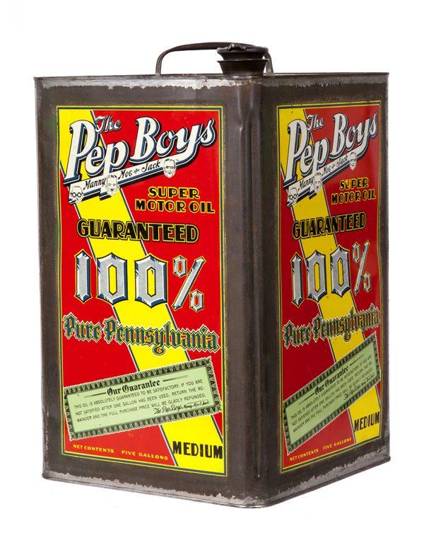 Pep Boys 5 Gallon Motor Oil Can