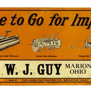 Ohio Cultivator Farm Machinery Sign