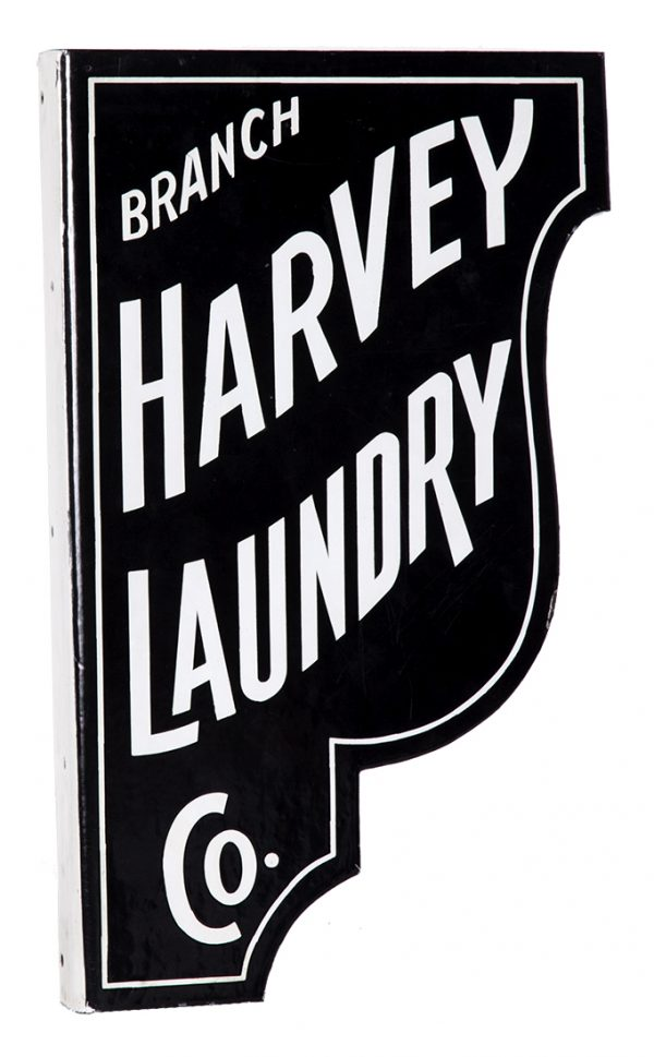 Harvey Laundry Porcelain Sign