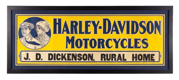 Harley Davidson Motorcycles Sign