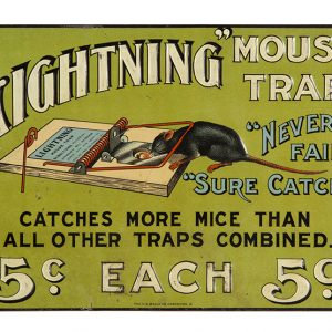Lightning Mouse Trap Sign