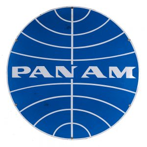 Pan American Airways Porcelain Sign