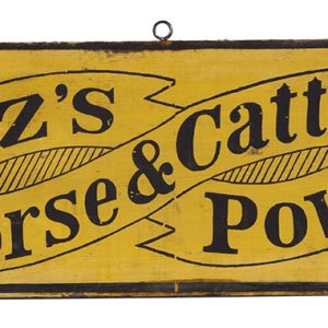 Foutz's Horse & Cattle Powder Sign