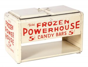 Frozen Power House Candy Bars Miniature Advertising Cooler