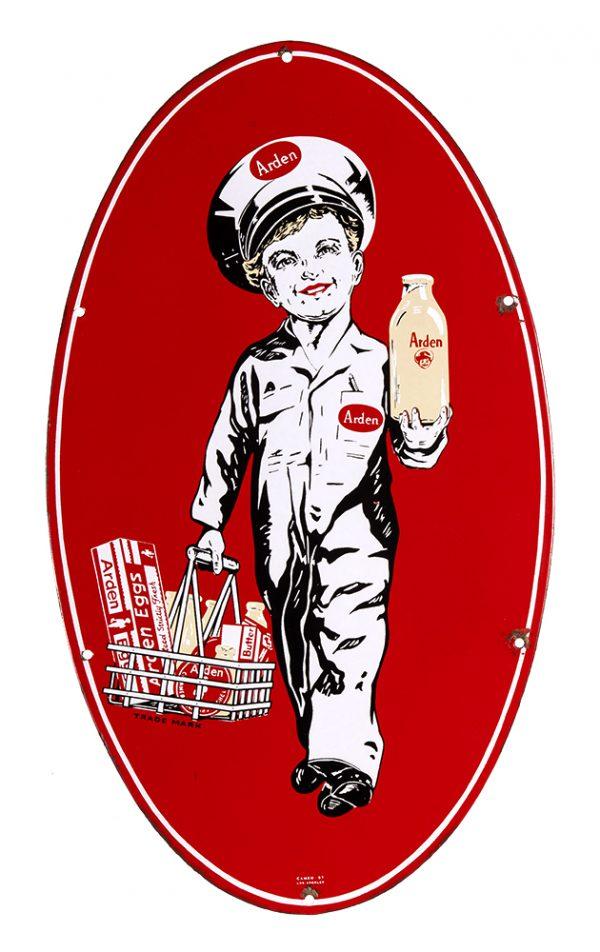Arden Dairy Porcelain Sign