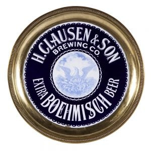 Clausen Brewing Co. Enameled Porcelain Tray