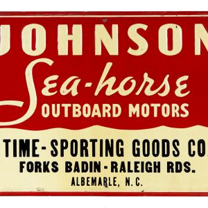 Johnson Sea-horse Outboard Motors Sign