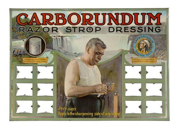 Carborundum Shaving Display