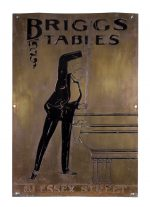 Briggs Tables Billiard Parlor Sign