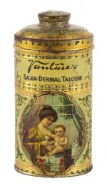 Vantine Talcum Powder Tin