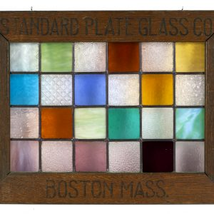 Standard Plate Glass Co. Stained Glass Samples Sign