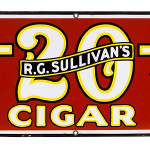 Sullivan's 7-20-4 Cigar Porcelain Sign