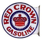 Red Crown Gasoline Porcelain Sign