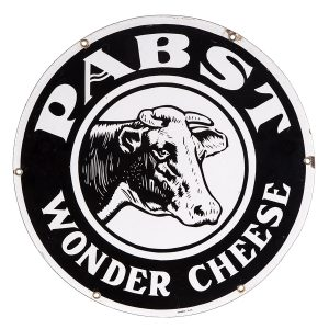 Pabst Wonder Cheese Porcelain Sign