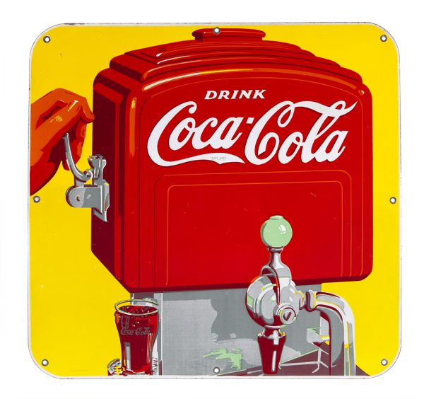 Coca-Cola Soda Fountain Porcelain Sign