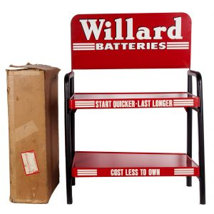 Willard Batteries Display Rack