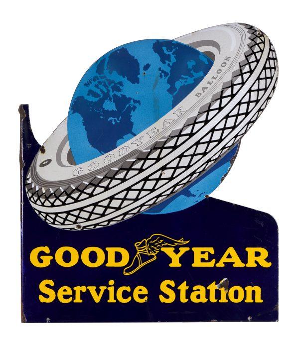 Good Year Porcelain Flange Sign